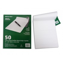 Writing Tablet - Liined ~ 50 sheets