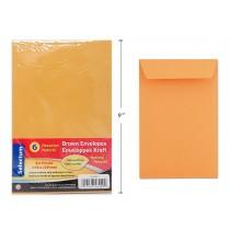 """Selectum Brown Peel-N-Seal Envelopes - 6"""" x 9"""" ~ 6 per pack"""
