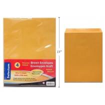 """Brown Peel-N-Seel Envelopes - 10"""" x 13"""" ~ 4 per pack"""