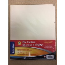 Selectum Letter Size File Folders ~ 6 per pack