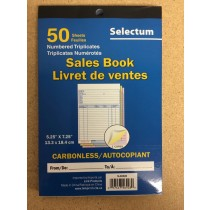 Selectum Tri Carbonless Sales Book ~ 50 sheets