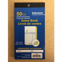 Selectum Duplicate Carbonless Sales Book ~ 50 sheets