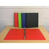 Selectum Hard Cover Vinyl 3-Ring Binder + Pockets ~ 1""