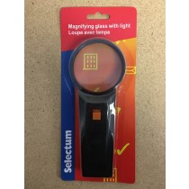 Selectum Magnifying Glass with Light ~ 6X Magnification