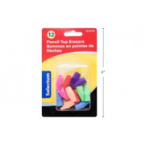 Selectum Pencil Top Erasers ~ 12 per pack