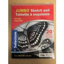 "Selectum Jumbo Sketch Pad - 11"" x 14"" ~ 20 sheets"