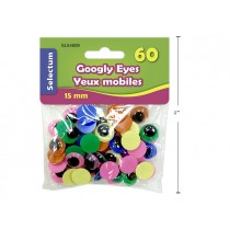 Selectum Colored Googly Eye - 15mm ~ 60 per pack