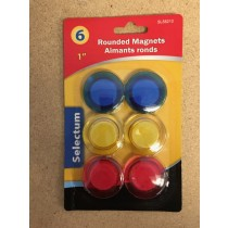"Selectum Round Magnets {1""} ~ 6 per pack"