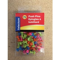 Selectum Neon Color Push Pins ~ 75 per pack