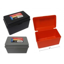 """Plastic File Box for 3"""" x 5"""" Index Cards"""