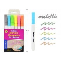 Selectum Outline Markers - Bullet Tip ~ 6 per pack