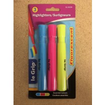 Selectum Fluorescent Highlighters ~ 3 per pack