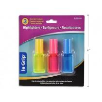 Selectum Nail Polish Style Highlighters ~ 3 per pack
