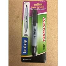 Selectum Dual Tip Permanent Black Marker