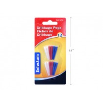 Selectum Plastic Cribbage Pegs ~ 12 per pack