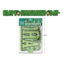 "St. Patrick's Day Jointed Paper Banner ~ 5'5"" L"