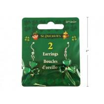 St. Patrick's Day Shamrock Jewel Earrings