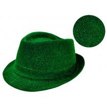 "St. Patrick's Day Sparkle Fedora Hat ~ 10.5"" x 9-1/8"""