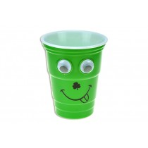 St. Patrick's Day Reusable Hard Plastic Googly Eyes Cup