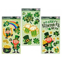 St. Patrick's Day Glitter Room Decor Clings