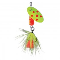 Panther Martin Lure - Size 2 ~ Spotted Fly Fluorescent Yellow & Fluorscent Red