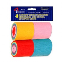 "Crepe Paper Streamers - ""Rainbow Colors"" ~ 4 per pack"