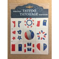Acadian Flag Temporary Tattoos