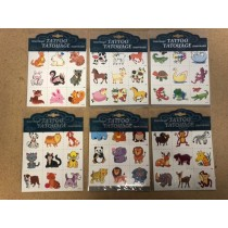 Kid's Animal Temporary Tattoos - 9 per pack