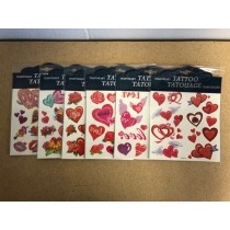 Kid's Hearts with Glitter Temporary Tattoos