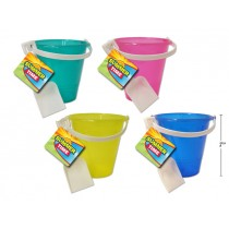 Glitter Sand Beach Bucket w/Shovel ~ 7""
