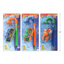 Kid's Snorkel & Mask Set with 2 Ear Plugs