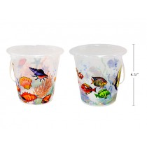 Printed Sealife Sand Beach Bucket w/Shovel ~ 6.25""