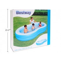 "Inflatable Big Lagoon Family Pool ~ 103"" x 62"" x 18"" high"