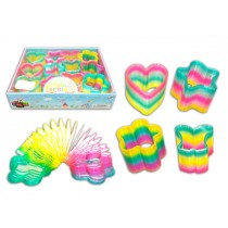 Rainbow Plastic Magic Spring - Assorted Shapes ~ 12 per display