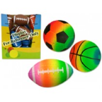 Rainbow Mini Sport Balls - 3 assorted