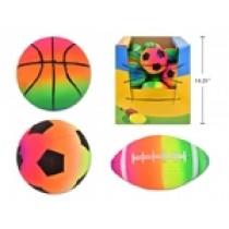 Rainbow Mini Sport Balls - 3 assorted