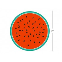 "Watermelon Print Round Beach Towel - 60"" Diameter ~ in PVC Bag"