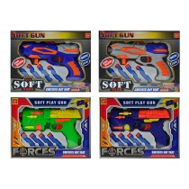 Soft Foam Suction Dart Gun with 4 Darts