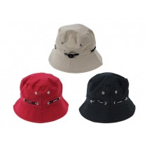 Kid's Solid Color Draw String Bucket Hat