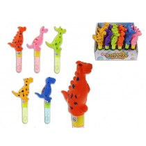 "8.25"" Dinosaur Bubble Wand - 1oz ~ 24 per display"
