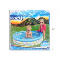 "Inflatable Round Coral Kids Pool ~ 40"" Diameter x 10"" high"