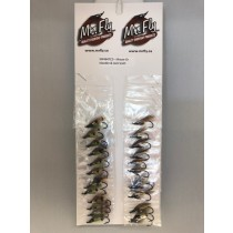 Moose Green Islander & Jock Scott Salmon Wet Flies