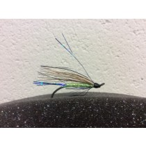 None of Your Business ~ Fl. Green Salmon Wet Flies