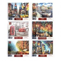 Jigsaw Puzzle - 6 assorted Vistas ~ 1000 pieces
