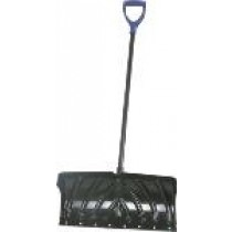 Snow Pusher with Poly Blade Steel & Poly D-Handle ~ 24""
