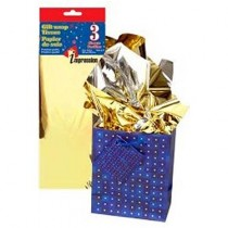 Tissue Paper - METALLIC GOLD ~ 3 per pack