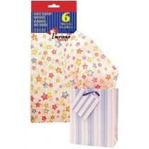 Tissue Paper - COLOURFUL STARS ~ 6 per pack