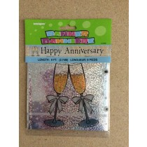 "Foil Prism Banner - 9' ~ ""Happy Anniversary"""