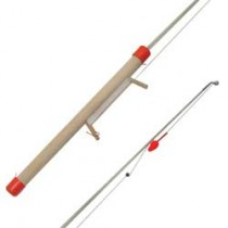 "Wooden Ice Rod 24"" w/Line Winder, Line & Lure"