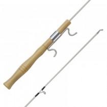 """Wooden Ice Rod 24"""" w/Line Winder"""